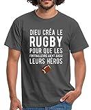 Dieu Créa Le Rugby T-Shirt Homme, M, Gris Graphite