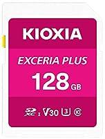 Kioxia 128GB Exceria Plus SDメモリーカード SDXC UHS-I U3 Class 10 V30 4K ビデオ録画 LNPL1M128GG4