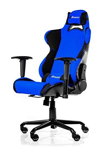 Arozzi - Torretta sedia da Gaming, Nero Blu, 50 x 55 x 130