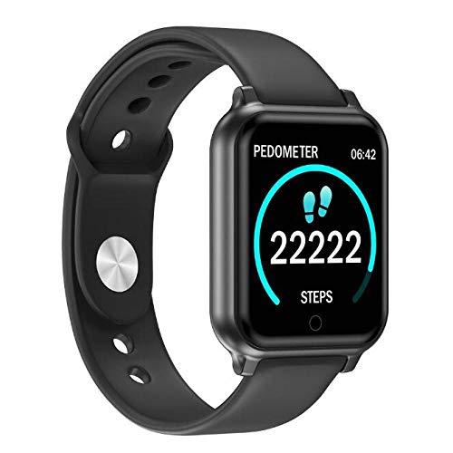 Generies Reloj Inteligente Nuevo T70 Smart Watch Heart Rate Sleep Monitor Fitness Tracker Waterdicht Bluetooth Smartwatch para Apple iPhone Xiaomi Huawei Negro