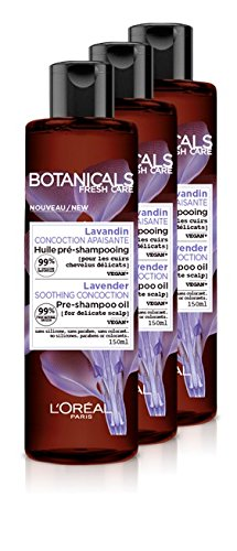 L'Oréal Paris Botanicals Soothing Concoction Lavender Pre-Shampoo Oil 150 ml - Pack of 3