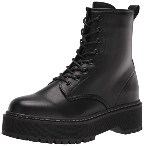 Steve Madden Women's Bettyy1 Combat Boot, Black, 9