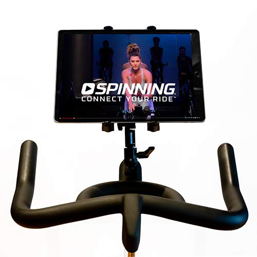 Spinning Deluxe Media Mount - Compatible w/Single Water Bottle Holder Spin Bikes