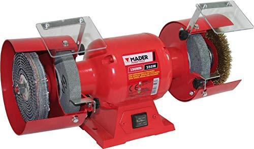 Mader Power Tools 73503 Amoladora de Banco Eléctrica 1350W, 150 mm