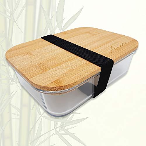 Glas Brotdose   Persönliche Gravur   1 Liter   Bambus Deckel   Personalisiert   Individuell   Motiv   Name