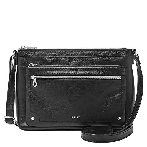 Relic by Fossil Women's Evie Crossbody Handbag, Color: Black Model: (RLH8500001)