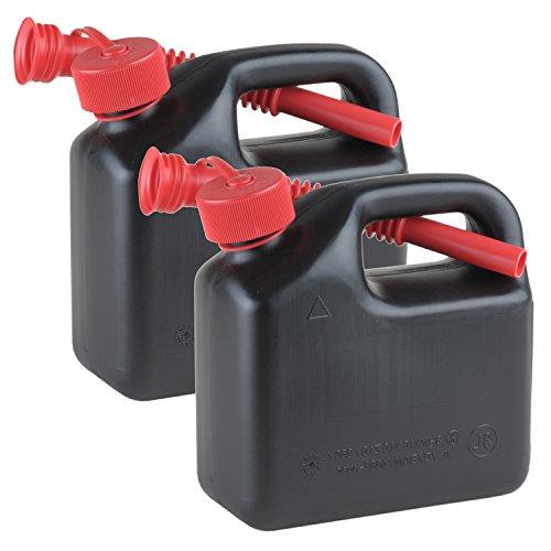 2er Set Reserve- bzw. Benzinkanister 3 Liter Schwarz mit UN-Zulassung