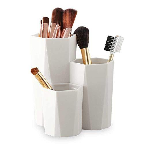 Sechseck Make-up Pinsel Lagerung Stifthalter, Reise Kosmetik Augenbrauen Stift Veranstalter Lagerung Cup Container, Multifunktions-Nagellack, Make-up Schwamm, Schreibtisch liefert ordentlich Eimer