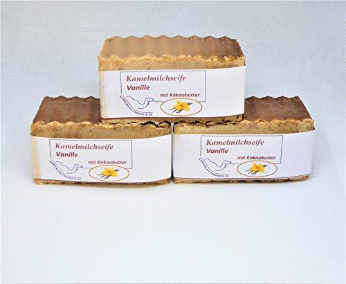 Handgemachte Kamelmilchseife, Naturseife, Vanille mit Kakaobutter