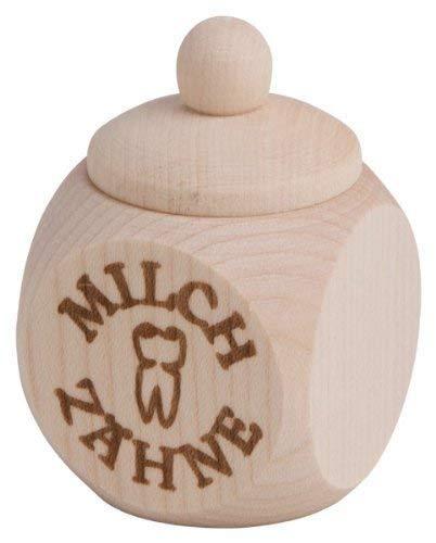 Gravidus Holz Milchzahn Dose mit Schraubverschluss
