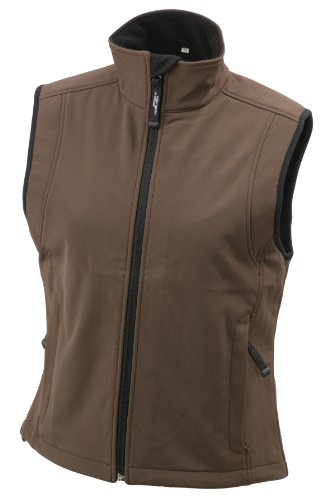 James & Nicholson Damen Jacke Softshellweste braun (brown) Small