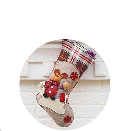 Christmas Decorations And Decorations New Year Gifts Santa Claus Snowman Socks Christmas Socks Gift Bags (2 Sets In Total)