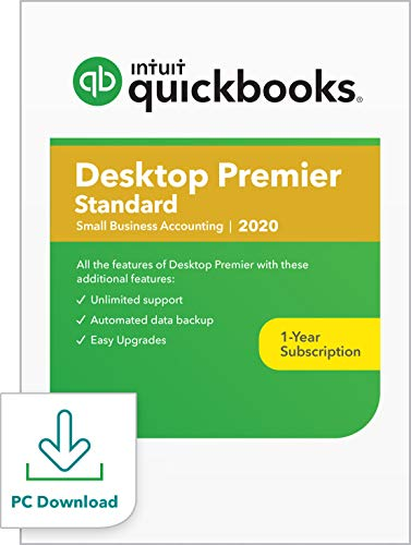 QuickBooks Desktop  Premier Standard 2020  Accounting Software for Small Business [PC Download]