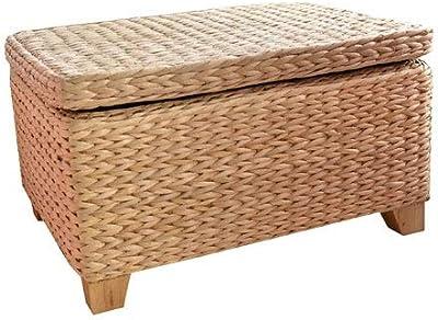 Superb Amazon Com Birdrock Home Woven Seagrass Storage Ottoman Lamtechconsult Wood Chair Design Ideas Lamtechconsultcom
