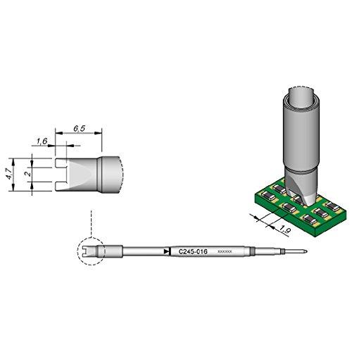 JBC C245016 SMD-Entlötspitze für T245