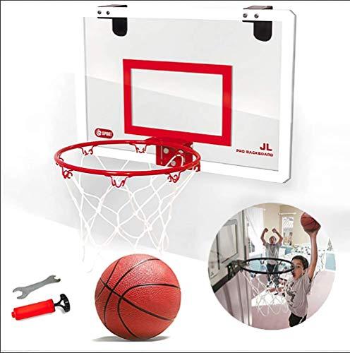 Yajun Mini Basketballkorb Korb Set mit Kugel 45,5 * 30,5 cm Bruchsicheres Backboard Mädchen Jungen Outdoor Spielzeug für Kinder,Red