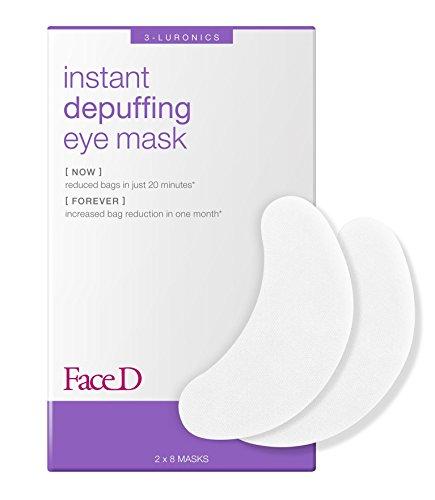 Face D | Maschera Occhi Defaticante a Azione Immediata con Acido Ialuronico ed Estratti di Te Verde, 8 pezzi