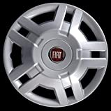 Generico Fiat DUCATO COPRICERCHIO BORCHIA Quattro (4) FURGONI E Camper 1300 Diametro 15 Logo Rosso