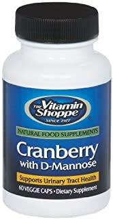 Cranberry with DMannose, Urinary Tract Bladder Health, Antioxidant with 60mg Vitamin C with Cranrich (Cranberry Concentrat...