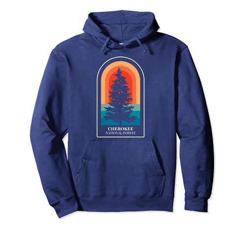 Retro Cherokee National Forest Tennessee Hiking Pullover Hoodie