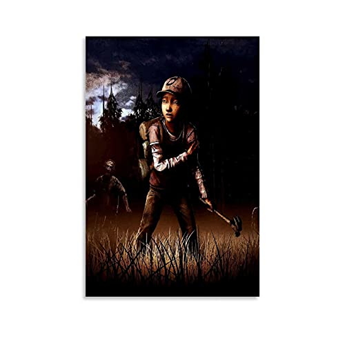 Wugod The Walking Dead Game and Movie Poster  Modern Family Bedroom Art Posters Decorative Painting Canvas Wall Art Living Room Posters Bedroom Painting 08x12inch(20x30cm)