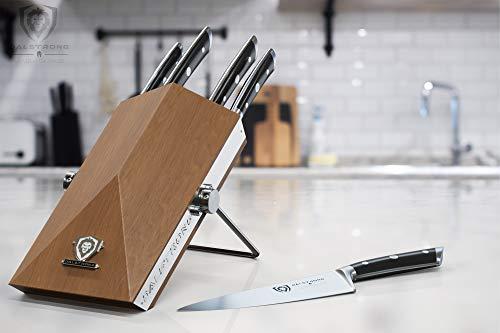 DALSTRONG Knife Block Set - 5 Piece - Gladiator Series - with Modular, Multi-Level Block - German HC Stainless Steel - Premium ABS Polymer Handles - NSF Certified