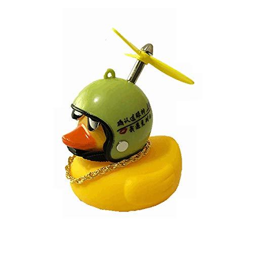 Huir Gummiente, Autozubehör, kleine gelbe Ente, Dekoration mit Helmen, Hut, niedliches und interessantes Spielzeug für Auto und Fahrrad