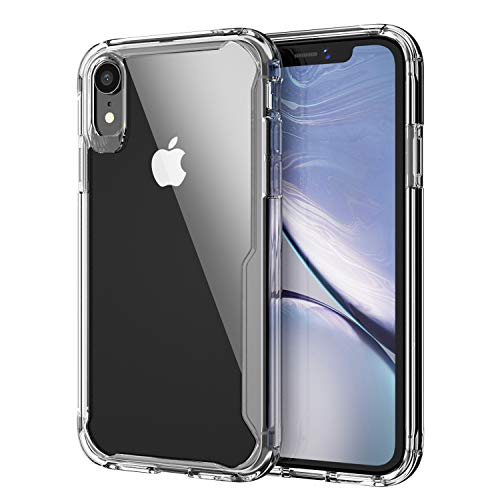 GPFILE Clear iPhone XR Case,iPhone XR Protective Case Cover Shockproof Case with TPU Soft Bumper for iPhone XR 6.1  inch