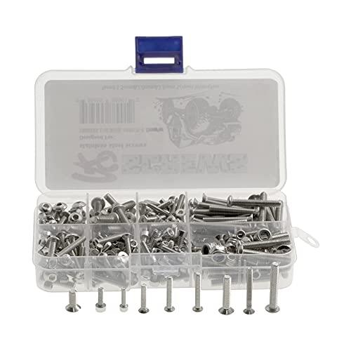 hndfhblshr Kit de tornillos RC Kit de reparación de herramientas de hardware sujetadores pernos tuercas para 1: 8 1/10 RC Car