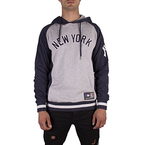Majestic Sudadera Capucha New York Yankees Handly Oth Fashion Gris L (Large)