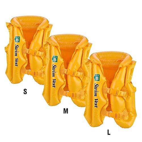 LLine Zomer Kinderen Opblaasbaar Zwemvest Reddingsvest Veiligheidsjassen Varen Drifting Levensreddend Vest Reddingsvest, Oranje, S