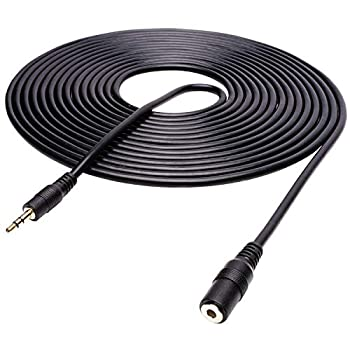 Movo MC20 3.5mm Audio Cable - 3.5mm TRS Female to Male 20ft Extension Cord for Microphones Headphones and More