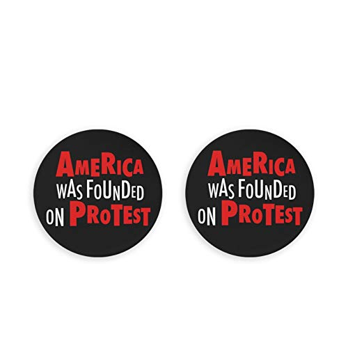America Was Founded On Protest Stainless Steel Cola Beer Bottle Openers/Fridge Magnets(2pcs) Kitchen Decoration