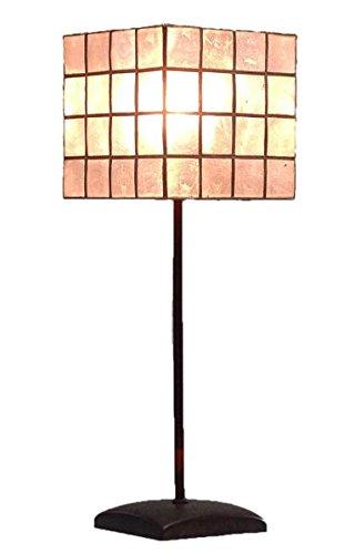 Guru-Shop Tafellamp Kokopelli - Las Vegas, Meerkleurige H1117m, Schelpen, Kleur: Meerkleurige H1117m, 47x16,5x16,5 cm, Klassiek Moderne Tafellampen