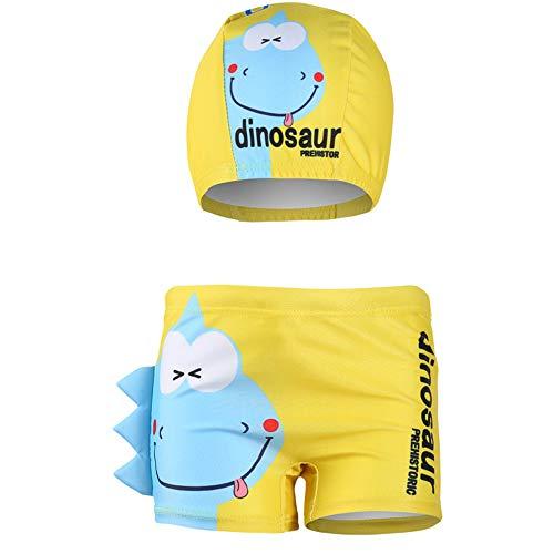Shorts de baño para niños Troncos de baño para niños pequeños bxeadores de natación para niños Dibujos animados en 3D Disfraz De Dinosaurio Cangrejo Impreso Yw2 7-8 Años