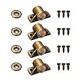 ALEOHALTER Paquete de 4 capturas para gabinete, aleación de zinc, accesorios de hardware para puerta, cierre magnético fuerte para armario de cocina