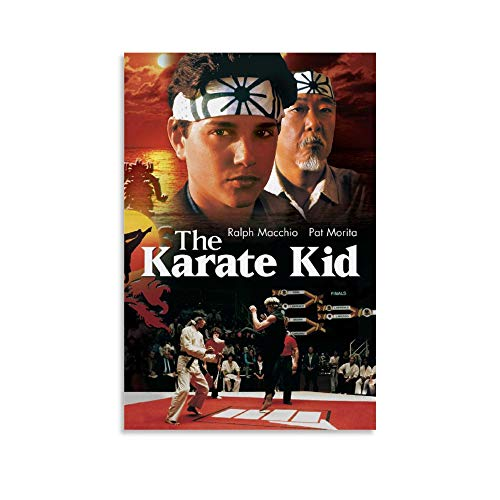 BUJI Filmposter The Karate Kid American Classic Movie Poster Canvas Wall Art Room Decor Gift 40 x 60 cm