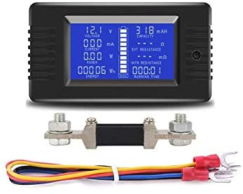 Spartan Power DC Meter Battery Monitor Multimeter 0 300A 0 200VDC LCD Display Comes with 300A product image
