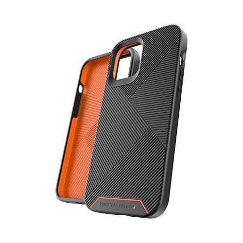 Gear4 Battersea - Carcasa rígida con protección Avanzada contra Impactos (protección D3O) con protección Trasera Reforzada, diseño Delgado, Fabricado para iPhone 12 Pro MAX, Color Negro