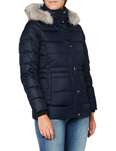 Tommy Hilfiger TH ESS Tyra Down Jkt with Fur Chaqueta, Desert Sky, M para Mujer