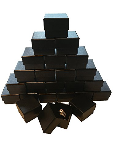 Marimor Jewelry Black Ring Gift Box with Foam and Velvet Insert Wholesale Pack of (1440)