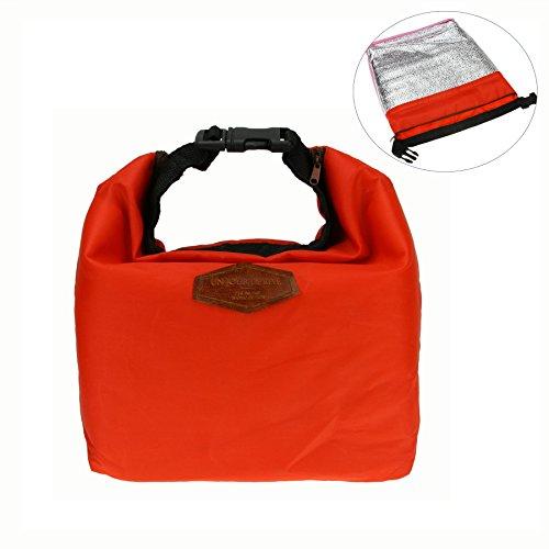 Wasserdichte Picknicktasche Campingtasche Lunch Bag Mittagessen Tasche Kühltasche Thermotasche für Ausflug Camping Schule Büro ROT