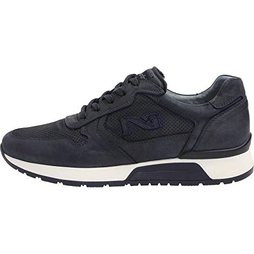Nero Giardini Uomo Sneakers in Pelle Blu P800235U Scarpe in Pelle Primavera Estate 2018, EU 43