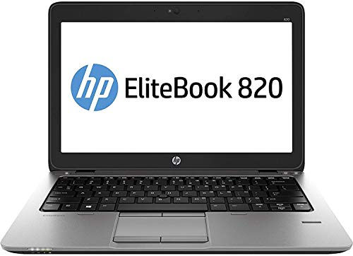 HP EliteBook 820 G1 12-inch Ultrabook Laptop PC (Intel Core i5-4300U, 8GB RAM, 180GB SSD, WiFi, WebCam, Windows 10 Professional 64-bit) (Renewed)