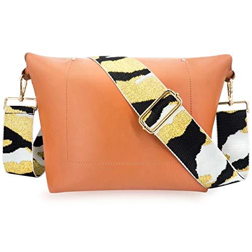 Wolven Adjustable Purse Strap Replacement Crossbody Shoulder Strap for Handbag Laptop Bag Etc - (BWG)