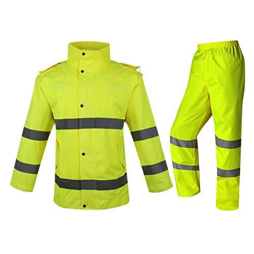 Meijunter Wasserdicht Transport Regen Anzug Reflektierende Spaltung Regenbekleidung Sicherheit Einstellbar Arbeitskleidung Regenmantel Hose Einstellen