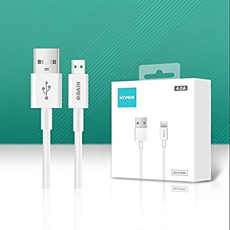 Color : White GuiPing KV-CT205 4A Micro to USB TPE Charging Data Cable White Length: 1m