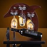 Yuany bestweinhalter weinglashalter, europäischen Delphin Holz Wein tassenständer stemware Glas...
