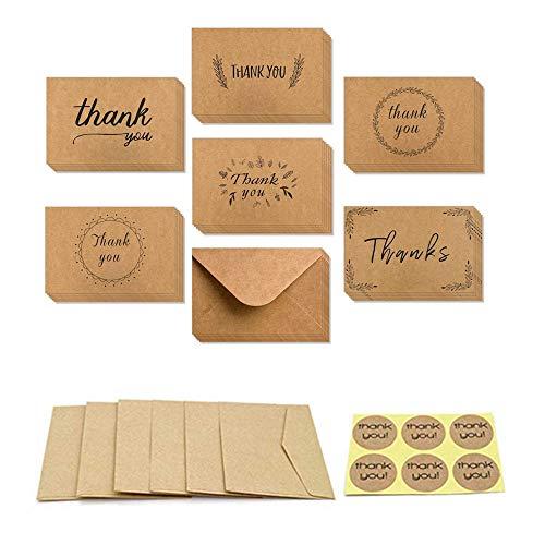 36 pzas tarjetas agradecimiento Multipack sobres juego