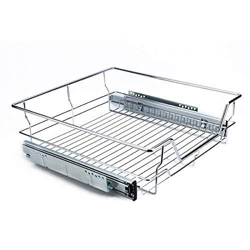 Gabinete corredizo - Organizador de gabinete corredizo de Cocina Extraíble Alambre Cromado Cesta de Almacenamiento Cajón Gabinetes de Cocina